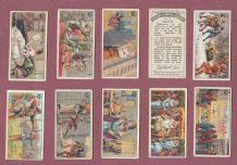 Trade Cigarette cards 1922 Ancient Customs, Jester, Maypole ,Duel